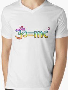 Aum = mc2 Mens V-Neck T-Shirt
