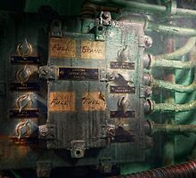 Steampunk - Naval - Electric - Lighting control panel by Mike  Savad