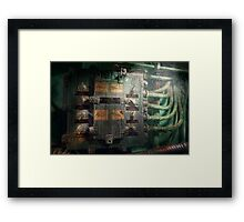 Steampunk - Naval - Electric - Lighting control panel Framed Print