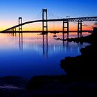 Newport(Pell)Bridge Silhouette by Eric Full