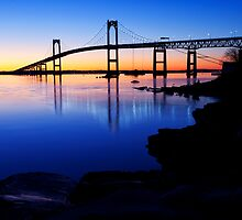 Newport(Pell)Bridge Silhouette by Eric Full