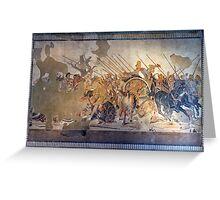 Battle of Alexander the Great and Darius III mosaic  Greeting Card