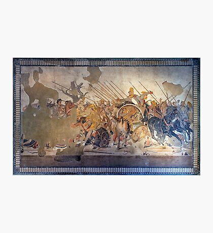 Battle of Alexander the Great and Darius III mosaic  Photographic Print