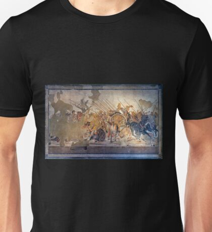 Battle of Alexander the Great and Darius III mosaic  Unisex T-Shirt