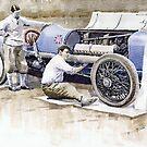 Malcolm Campbell Sunbeam Bluebird 1924 by Yuriy Shevchuk