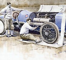 Malcolm Campbell Sunbeam Bluebird 1924 by Yuriy Shevchuk