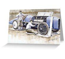 Malcolm Campbell Sunbeam Bluebird 1924 Greeting Card