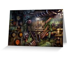 Steampunk - Naval - The comm station Greeting Card