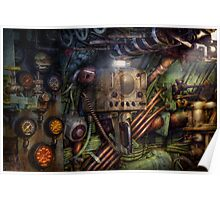 Steampunk - Naval - The comm station Poster