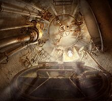 Steampunk - Naval - The escape hatch by Mike  Savad
