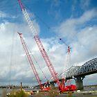 Huey P. Long Bridge (Please View In Larger Size)  by Wanda Raines