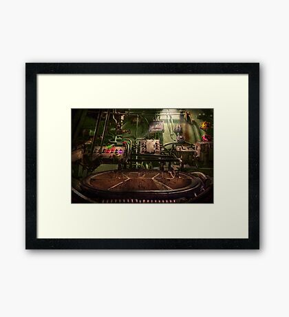 Steampunk - Naval - This is where I do my job Framed Print