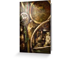 Steampunk - Naval - Watch the depth Greeting Card