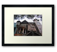 Old Town's Haunted House Framed Print