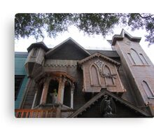 Old Town's Haunted House Canvas Print