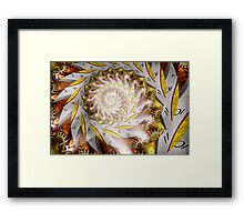 Steampunk - Spiral - Time Iris Framed Print