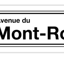 Avenue du Mont-Royal, Montreal Street Sign, Canada Sticker