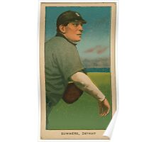 Benjamin K Edwards Collection Ed Summers Detroit Tigers baseball card portrait Poster