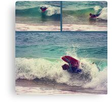Rain, hail or shine... a Grommets gotta surf Canvas Print
