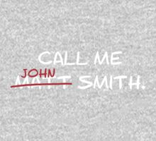 Call me John Smith - Matt Smith Doctor Who white Baby Tee