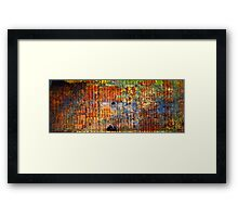 Abstract in Rust XVI Framed Print