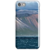 Typical icelandic landscape with volcanoes iPhone Case/Skin