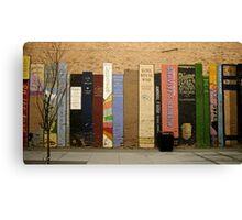 Urban Bookshelf Canvas Print