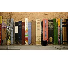 Urban Bookshelf Photographic Print