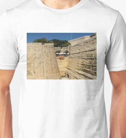 Maltese Knights Legacy - Valletta City Walls Cafe Open for Business Unisex T-Shirt