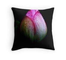 Rain Kissed Throw Pillow
