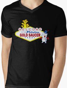Fabulous Gold Saucer Alternate Mens V-Neck T-Shirt