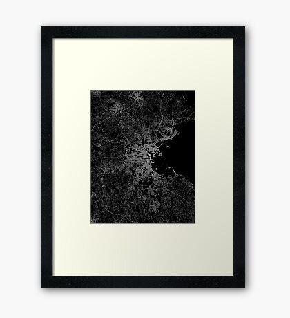 Boston map Framed Print