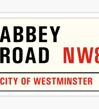 Abbey Road, London Street Sign, UK Sticker