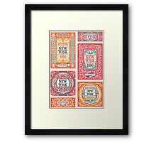 Vintage Hipster Labels Framed Print
