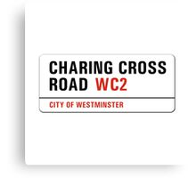 Charing Cross Road, London Street Sign, UK Canvas Print