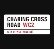 Charing Cross Road, London Street Sign, UK One Piece - Short Sleeve