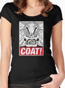 COAT! Cruella De Vil Women's Fitted Scoop T-Shirt