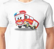 Happy the Fire Truck Unisex T-Shirt