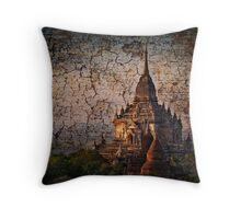 Bagan tapestry. Throw Pillow