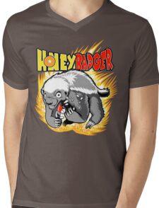 Honey Badger. He's OVER 9000!  Mens V-Neck T-Shirt