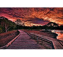 Sunset at the creek Photographic Print