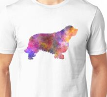 Clumber Spaniel in watercolor Unisex T-Shirt