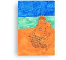 a mermaid Canvas Print