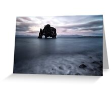 Drinking dragon, exposed rock in Iceland Greeting Card