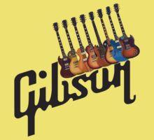 Gibson Les Paul Guitar Medley T2 Baby Tee