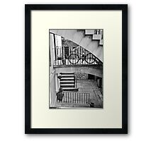 Edinburgh New Town steps and stairs  Framed Print