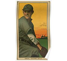 Benjamin K Edwards Collection Rube Kroh Chicago Cubs baseball card portrait Poster