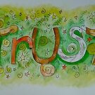 Trust (living word illustration) by Amanda Gazidis