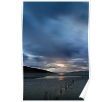 Storm passing Ralphs Bay Poster