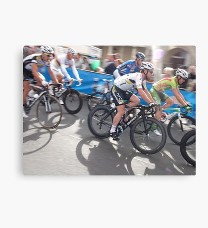 Mark Cavendish at Tour of Britain, London 2011 Canvas Print